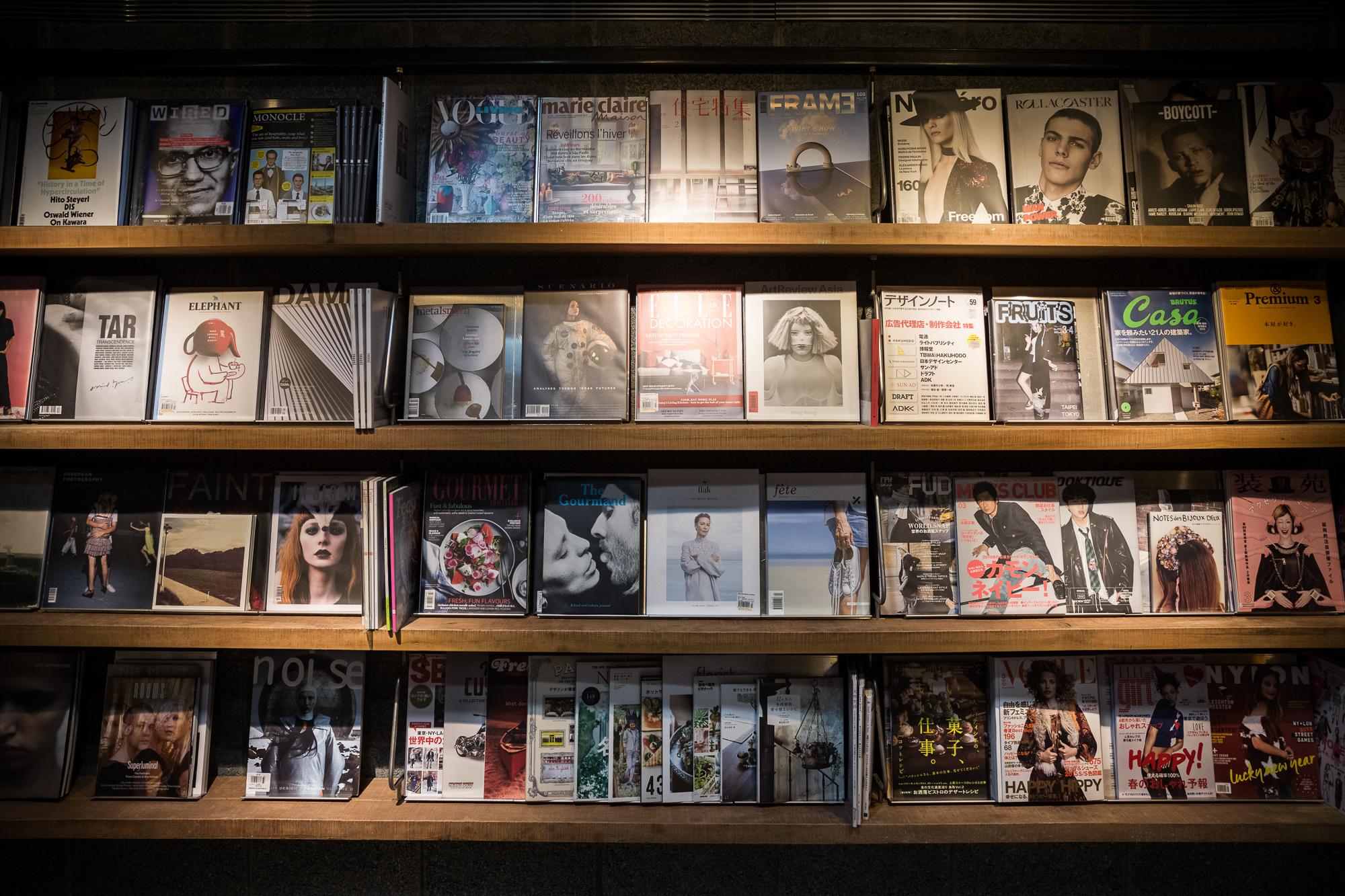 杂志迷看到现场   大面书墙,很难不兴奋吧!