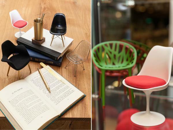 精緻細膩的《鬱金香椅》 - Tulip Chair迷你模型於經典椅群中更顯簡潔俐落,又如同花苞待放俏麗可愛。(Photo Credit:北歐櫥窗 )