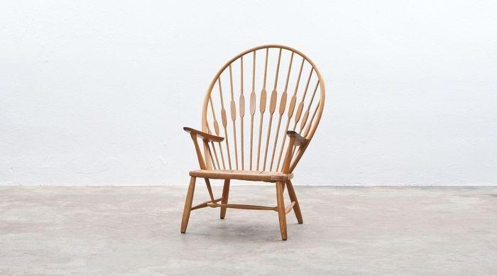 孔雀椅子手绘图片
